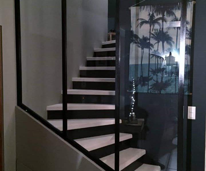 Verrière pour montée d\'escalier – Ferronnerie Martinelli